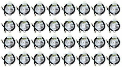 (32) Chauvet DMX3P10FT 10 Foot Male To Female 3 Pin DMX Lighting Cable