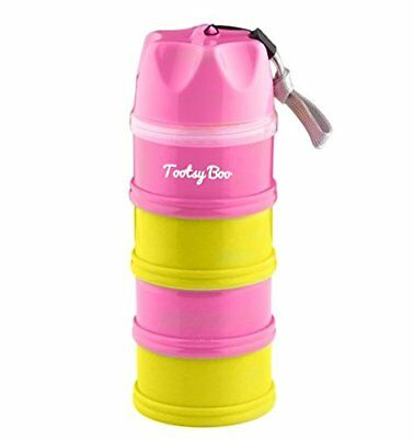 4 Compartment Formula Milk Powder Dispenser And Food/snack Container By Tootsy B
