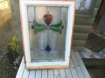 Vintage  Stained Glass Leaded Open Window For Interior Design or Restoration