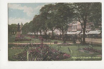 Princes Street From The Gardens Edinburgh Vintage Postcard 644a