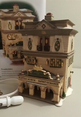 Dept 56 Dickens Village Series 2001 PICCADILLY GALLERY Egyptian Museum 58498