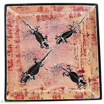 Stone Plate Kisii Lizards 6 Inches Square Kenya African