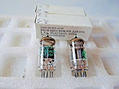 5751 Jan Philips ecg  ECC83 12AX7 New Old Stock Valve Tube  Elect Matched Pair