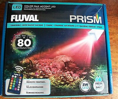 New Fluval Prism 80 Submersible Colour Max Accent Led Light Remote Control A3975