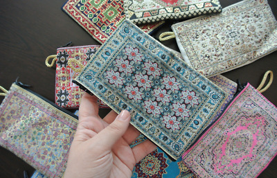 9bfcf7bb92 10 Pieces Coin Purse Wholesale! Ethnic Carpet Patterned Zippered Pouch Bag