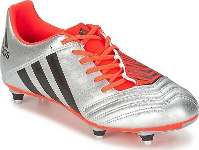 adidas Men's Incurza TRX SG Rugby Boots Soft Ground 6 Removable Studs Silver