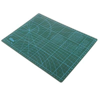 8mm Thick Craft Cutting Mat Measuring Grid Lines Non Slip Framing Surface A4