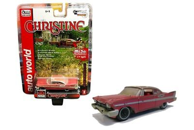 CHRISTINE Plymouth Fury 1958 DIRTY Version Junkyard **RR** Auto World MiJo 1:64