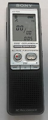 sony icd p520 handheld digital voice ic recorder tested working rh picclick com sony icd-p520 manual español sony icd-p520 manual español