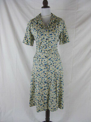 Vtg 50s 60s ActiviTee Vintage Garden Party Rayon Blend NOS NWT House Day Dress