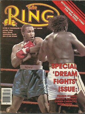 RING MAGAZINE: 1986 April (Witherspoon-Tubbs to front cover), fine/clean!