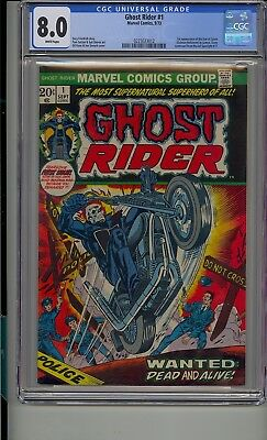 Ghost Rider #1 Cgc 8.0 White Pages 1St App Of Son Of Satan Daimon Hellstrom