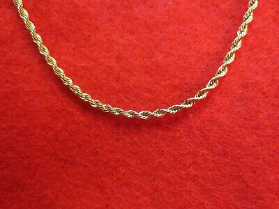 """18""""-30"""" 2.5Mm,3Mm,4Mm,5Mm Stainless Steel Gold Rope Chain Necklace- Gold"""
