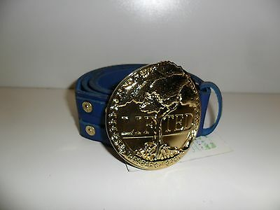 LRG Lifted Research Group Men's Belt - Blue - Size Large - Brand New