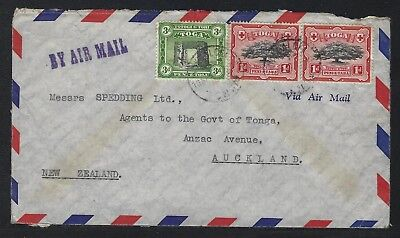 1947 Tonga Air Mail Cover – Nuku'alofa to Auckland, New Zealand