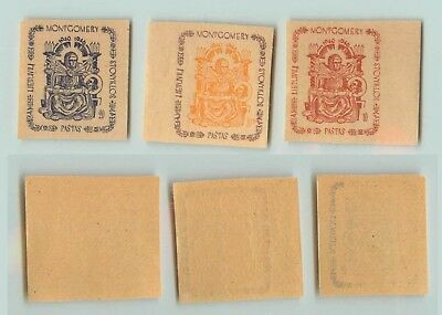 Lithuania 1947 10-20 mint imperf Montgomery DPC . f4079