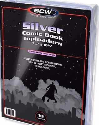 20 Crystal Clear Rigid Silver Comic Toploader Holder  New Book Display  NEW