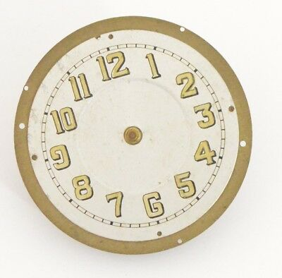 Vintage Clock key winding movement with dial 4 spares or repair