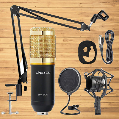 ZINGYOU Condenser Microphone Bundle, BM-800 Mic Kit with Adjustable Mic Scissor