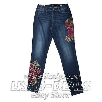 Nine West Gramercy Floral Embroidered Jeans Theo Mastery Revival 4 6 8 10 12