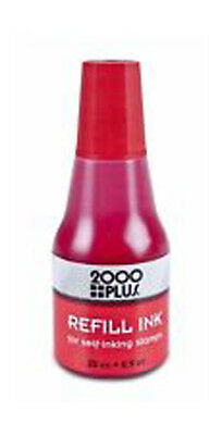 Cosco Self-Inking water based Stamp Ink Refill 25 cc 0.9 oz. (RED) REDInk