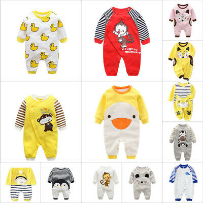 Newborn Bodysuit Boys'/Girls' Romper Long Sleeve Climbing Clothes 0-12Months