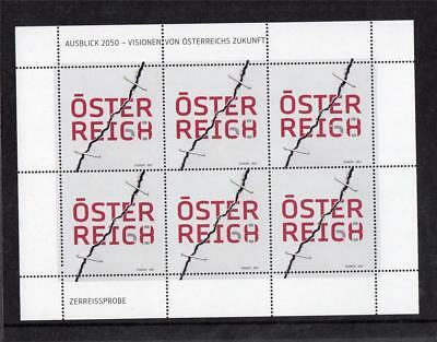 Austria Mnh 2017 Outlook 2050 - Visions Of The Future Sheet