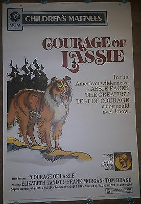 "5ft Courage of Lassie 1972 Original Movie Poster ROLLED-NO FOLDS 40x60"" 1 Sheet"