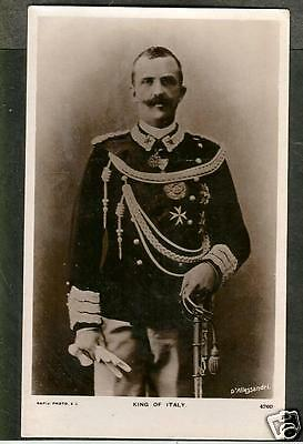 GVL Early Postcard, The King of Italy