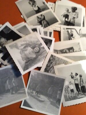"Lot of Over 55 Original B&W Found Old Photos Large 1948 3 1/2"" X 3 1/2"""