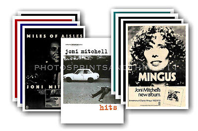 JONI MITCHELL - 10 promotional posters - collectable postcard set # 2