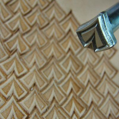 James Linnell - Pointed Scale Geometric Stamp (Leather Stamping Tool)