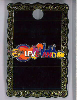 Cleveland Hard Rock Cafe pin - Cityscape guitar - HRC badge Closed