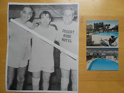Howard Klein Desert Rose Motel Vegas Shecky Al Klein Photo Postcard Nevada
