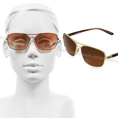 NWT OAKLEY SANCTUARY SUNGLASSES OO4116-03 Polished Gold Brown Gradient POLARIZED