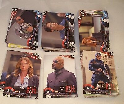 CAPTAIN AMERICA: The Winter Soldier  Complete Trading Card Set