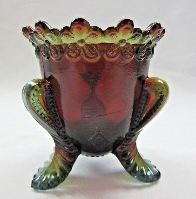 """Boyd Glass Forget Me Not Toothpick Holder """"rubina""""  First Five Years  #206"""