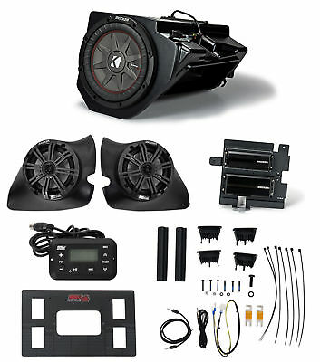 "2014-2017 Polaris RZR KICKER 6.5"" Speakers+Subwoofer+(2) Amps+Receiver+Wire Kits"