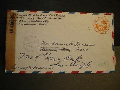 APO 324 ADMIRALTY ISLANDS 1944 Censored WWII Army Cover 307th BOMB Group