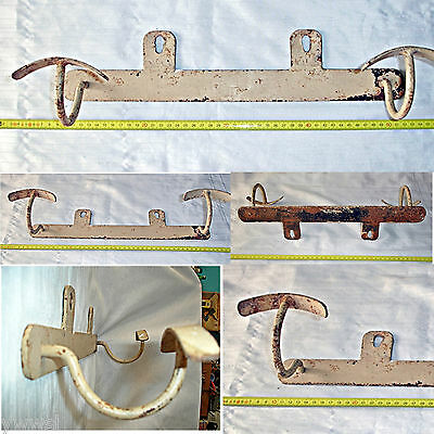 Antiguo Perchero de hierro - Original - Old iron coat rack