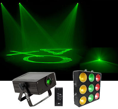 Chauvet DJ CORE 3x3 COB LED Pixel Mapping+Linear Wash Panel Stage Light+Laser