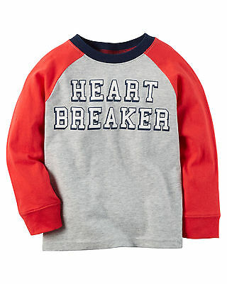 NWT ☀CARTERS☀ HEART BREAKER Boys VALENTINE'S DAY  t-shirt  New YOU PICK   6 7  8