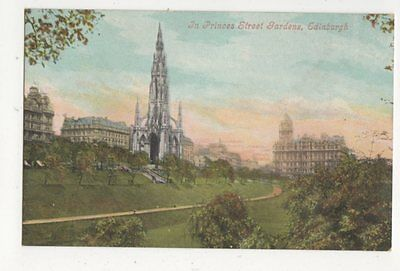 In Princes Street Gardens Edinburgh Vintage Postcard 383a