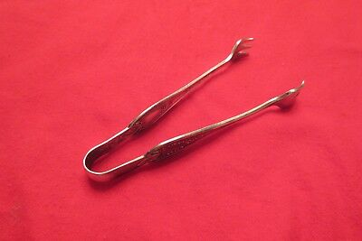 1847 Rogers Bros Silverplate Sugar Tongs Old Colony 1911