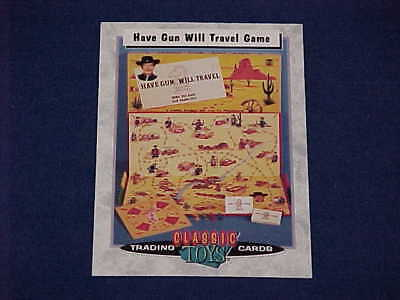 Classic Toys Trading Cards Have Gun Will Travel Richard Boone Western Game