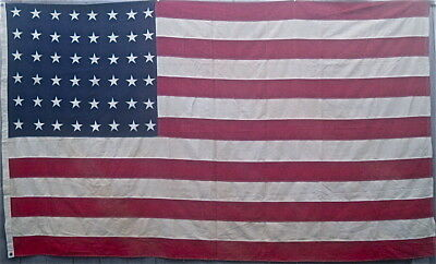 WWII era US 48 Star American Flag  5' x 9 1/2'  Original