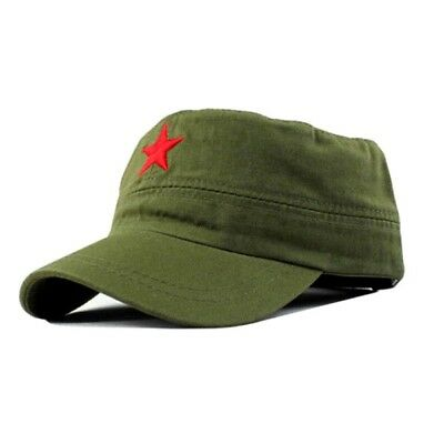 Military Fatigue Patrol Cap Red Star Castro Style Hat