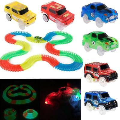 Electronics Car Magic Track Rail Race Toys W/ LED Flashing Lights Children COP