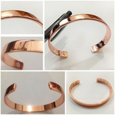 Unisex Magnetic Copper Bracelet Arthritis Therapy Pain Relief Bangle Heali COP