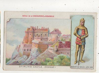 Stirling Castle Robert The Bruce Choclaterie Aiguebelle Advert Postcard 661b
